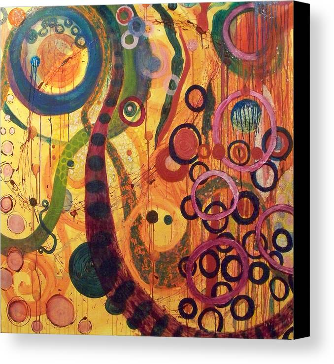 Abstract Canvas Print featuring the painting Celebration by Julia Collard