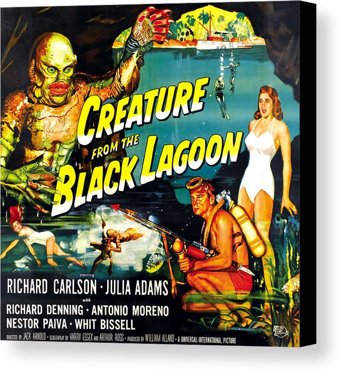 1950s Movies Canvas Print featuring the photograph Creature From The Black Lagoon by Everett