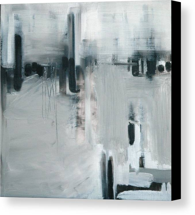 Abstract Canvas Print featuring the painting Depth Sounder by Liz Maxfield