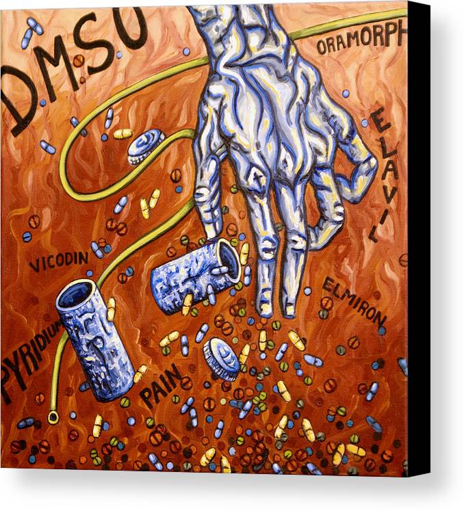 Pain Canvas Print featuring the painting Dmso by Judy Henninger