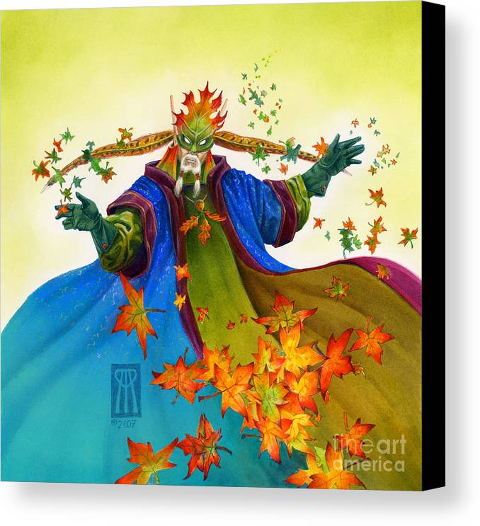 Elf Canvas Print featuring the painting Elven Mage by Melissa A Benson