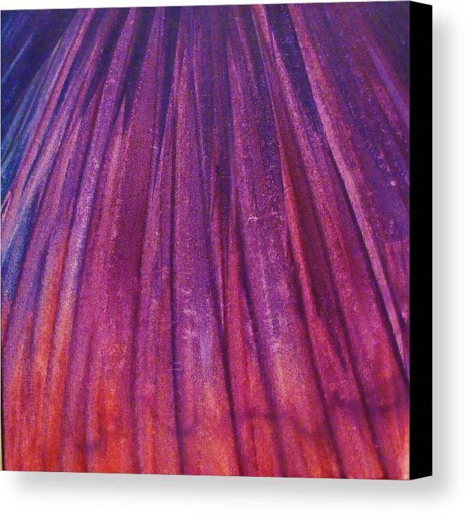 Firework Canvas Print featuring the painting Fireworks II by Anna Villarreal Garbis