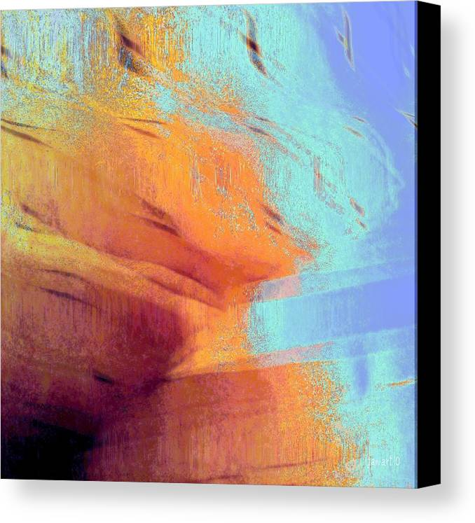 Fania Simon Canvas Print featuring the painting Frame The Unbroken View by Fania Simon