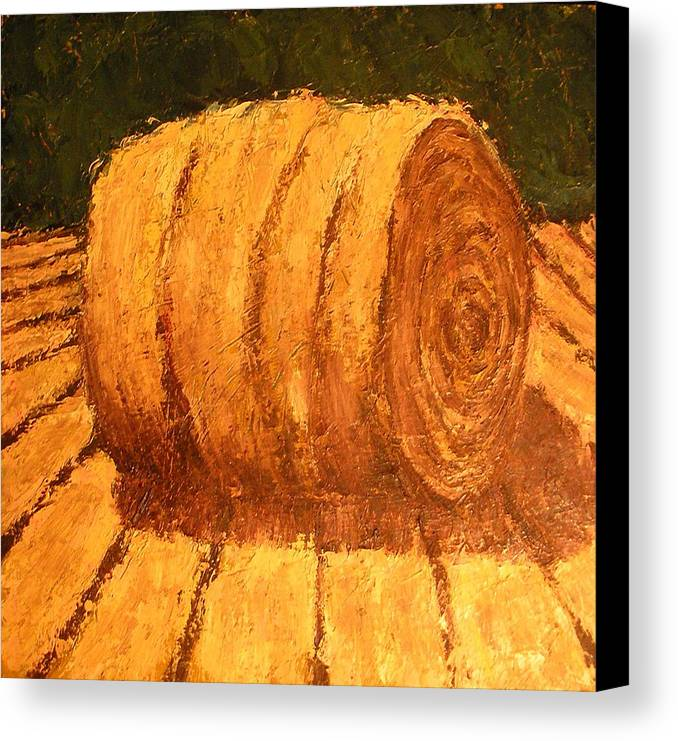 Art Sale Canvas Print featuring the painting Haybale by Jaylynn Johnson
