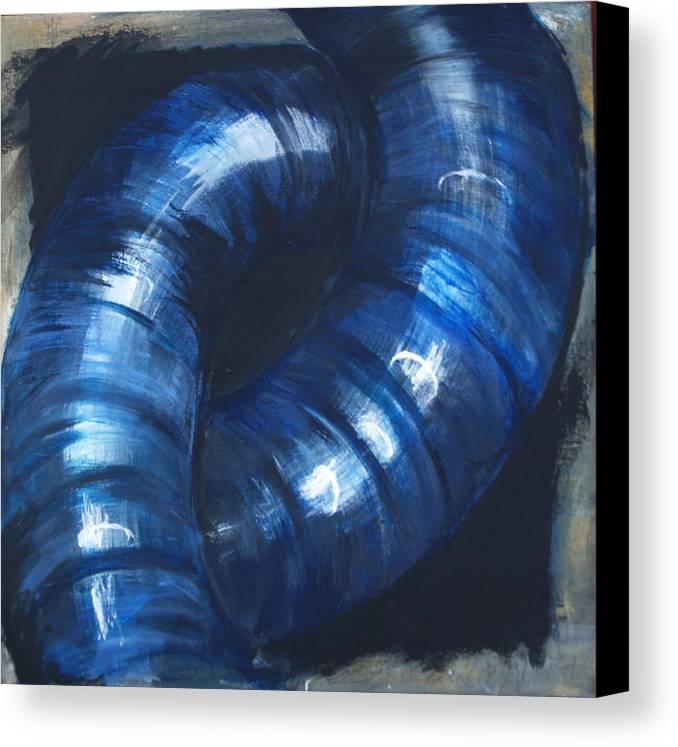 Abstract Canvas Print featuring the painting Highways by Cecilia August Sand