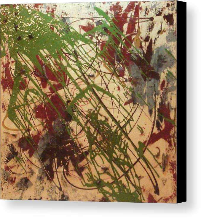 Abstract Canvas Print featuring the painting Hostile Takeover by Ofelia Uz
