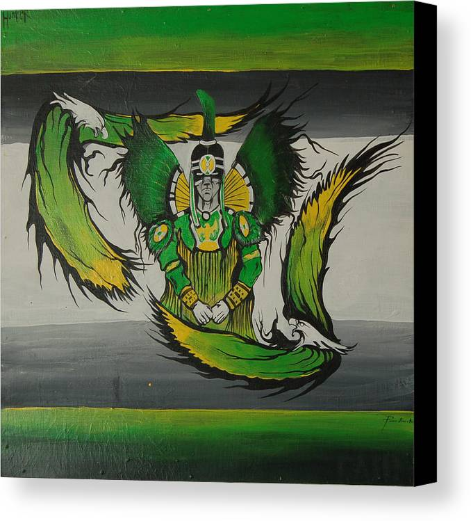 Eagles Canvas Print featuring the painting Hunter by Dallas Poundmaker