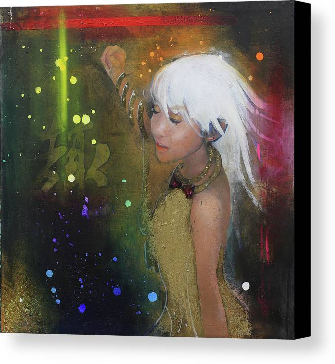 Girl Canvas Print featuring the painting I'm Just A Passenger by Michael Andrew Law