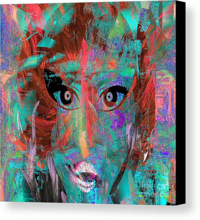 Fania Simon Canvas Print featuring the digital art In The Abscence Of My Brushes by Fania Simon