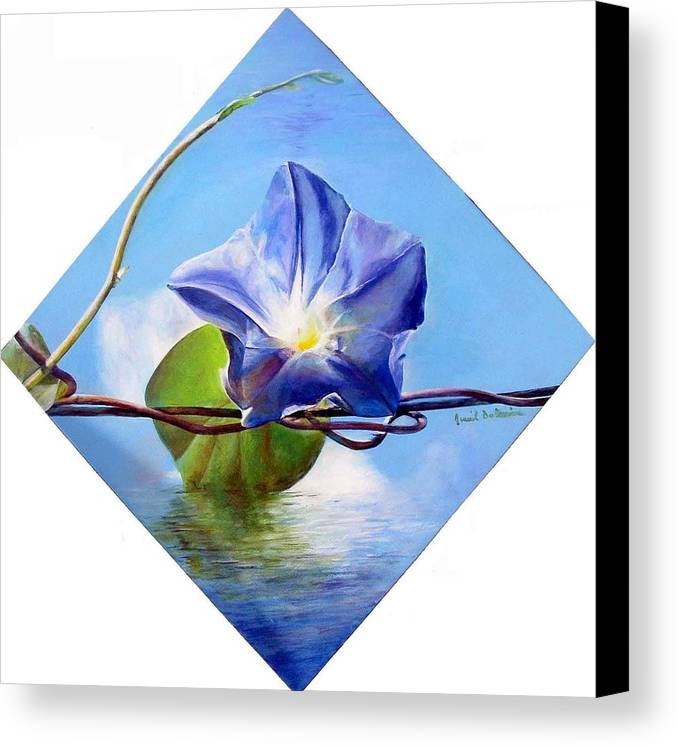 Floral Painting Canvas Print featuring the painting Liseron by Muriel Dolemieux
