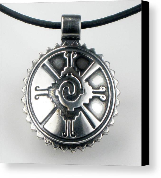 Mayan hunab ku shaman tribal sterlng silver pendant canvas print mayan hunab ku shaman tribal sterlng silver pendant key ring unique symbolic celestial universe aloadofball Image collections