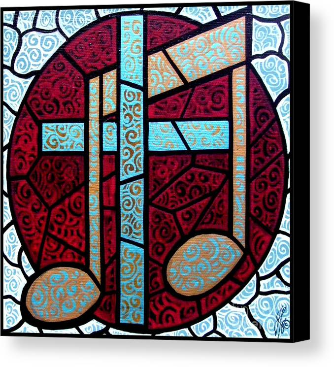 Cross Canvas Print featuring the painting Music Of The Cross by Jim Harris
