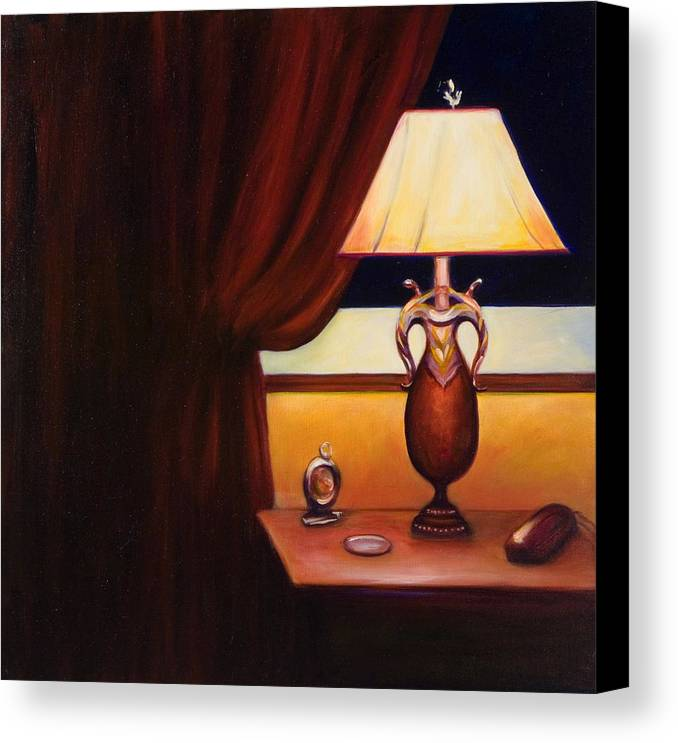 Still Life Red Canvas Print featuring the painting Night by Shannon Grissom