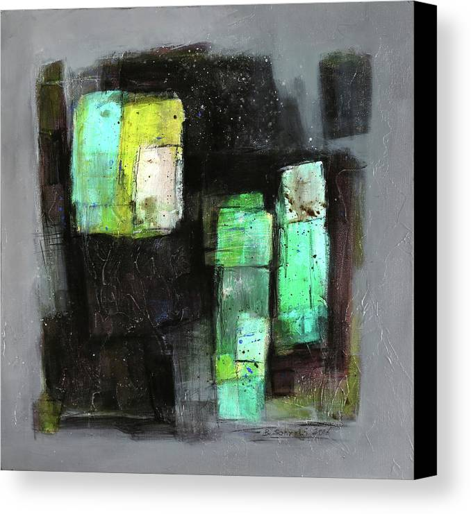 Sketching Canvas Print featuring the painting Texture Of Night Painting by Behzad Sohrabi