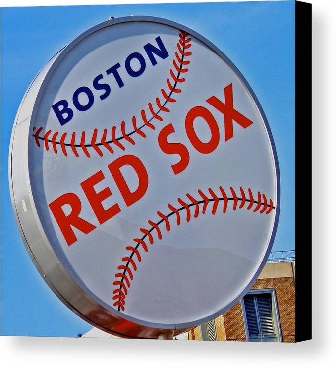 Red Sox Canvas Print featuring the photograph Play Ball by Donna Shahan