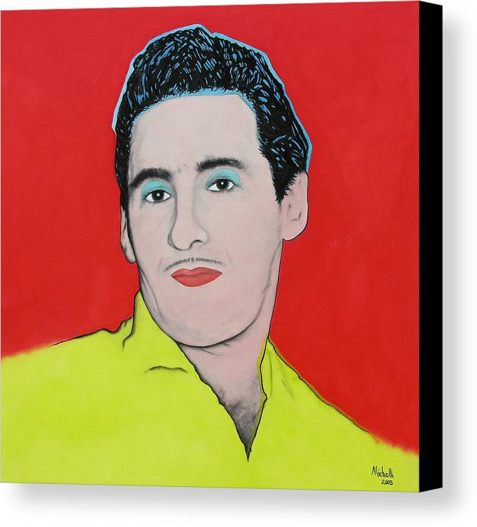 Portrait Canvas Print featuring the painting Portrait Of My Father by Joe Michelli