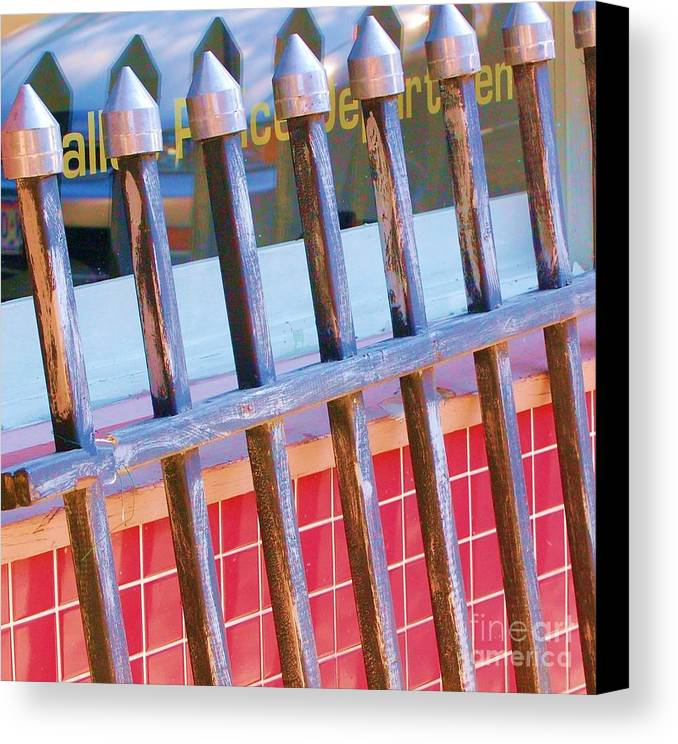 Gate Canvas Print featuring the photograph Reflections by Debbi Granruth