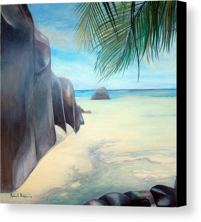 Paysage Canvas Print featuring the painting Reve by Muriel Dolemieux