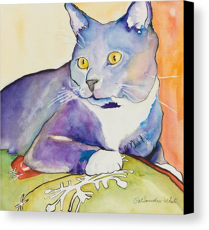 Pat Saunders-white Canvas Print featuring the painting Rocky by Pat Saunders-White