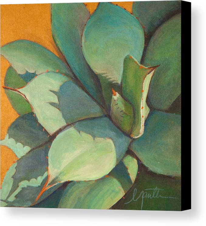 Agave Canvas Print featuring the painting Shadow Dance 1 by Athena Mantle