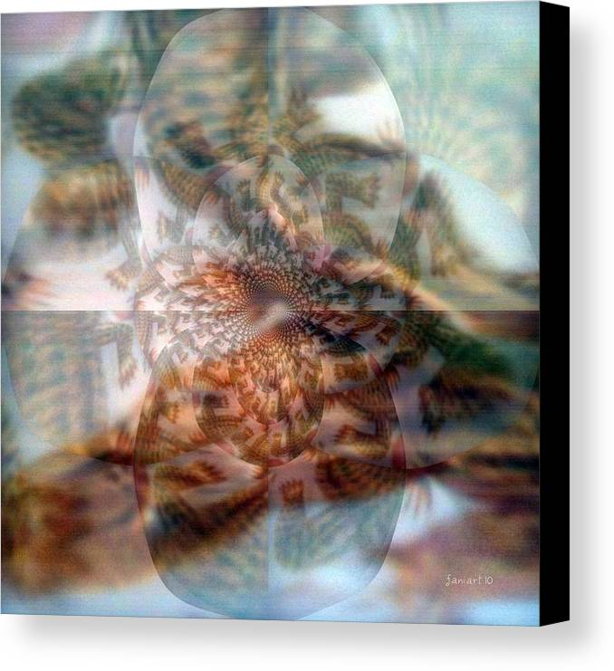 Fania Simon Canvas Print featuring the digital art Simple And Unpretentious by Fania Simon