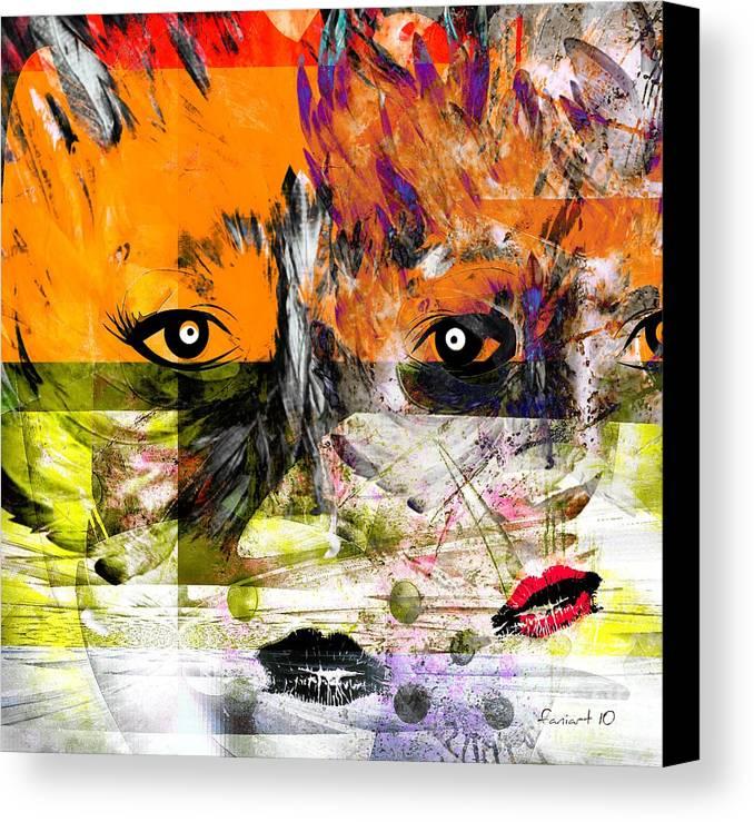 Fania Simon Canvas Print featuring the painting Splitting - Links Between Us by Fania Simon