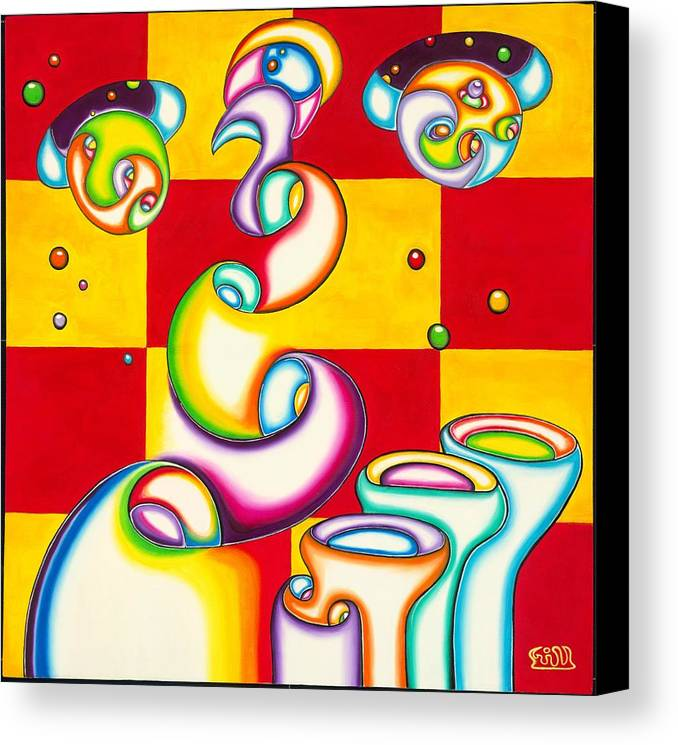 Fanasy Canvas Print featuring the painting Stellar Ports by      Gillustrator