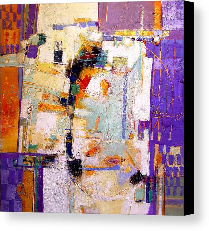 Abstract Canvas Print featuring the painting Street Fair by Dale Witherow