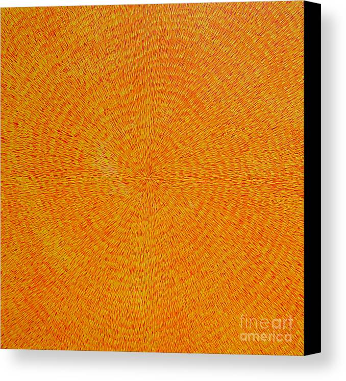 Abstract Canvas Print featuring the painting Su Gaia by Dean Triolo