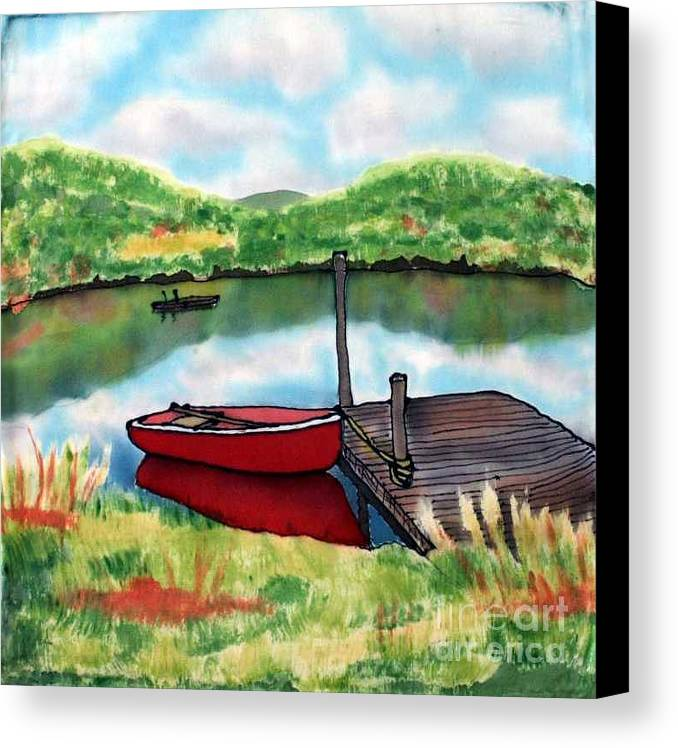Summer Canvas Print featuring the painting Sumer Reflections by Linda Marcille