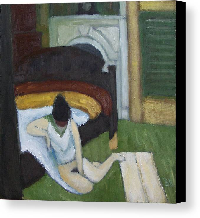 Nude Canvas Print featuring the painting Summer Interior by Bill Brauker
