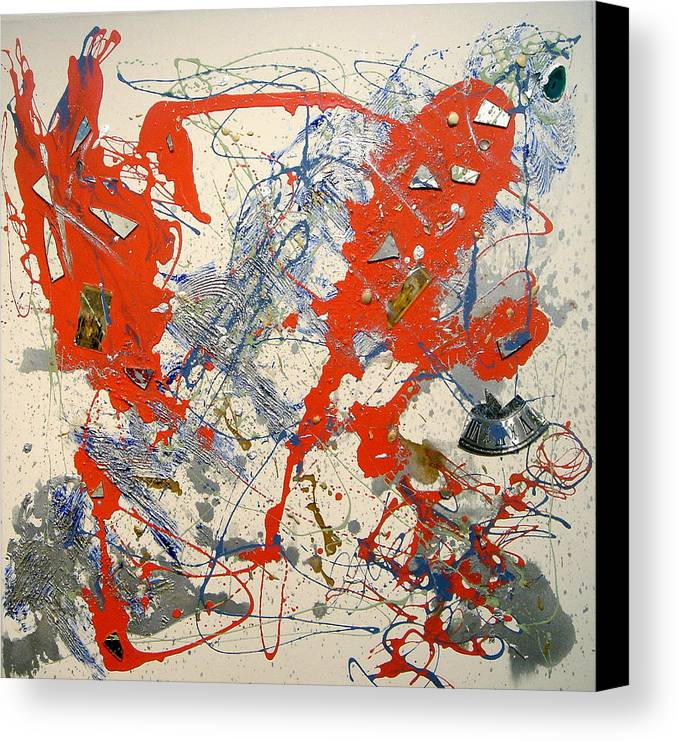 Abstract Canvas Print featuring the painting Temperatio by Irma Hinghofer-Szalkay
