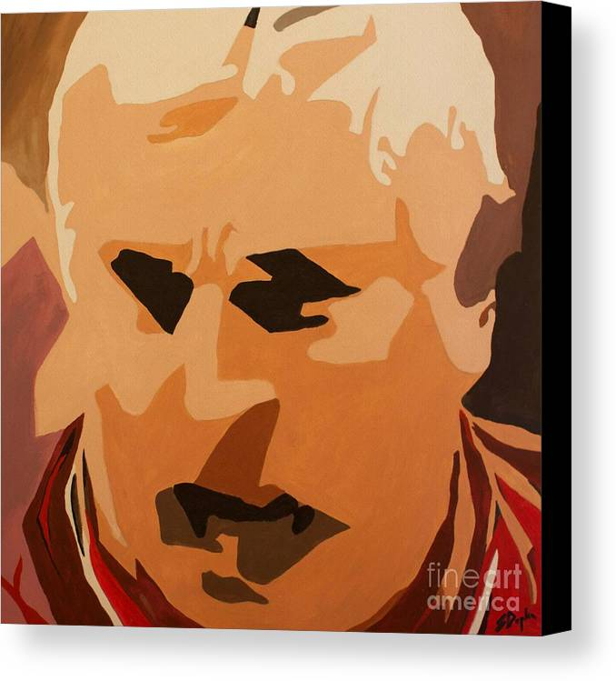 Coach Canvas Print featuring the painting The General- Bobby Knight by Steven Dopka