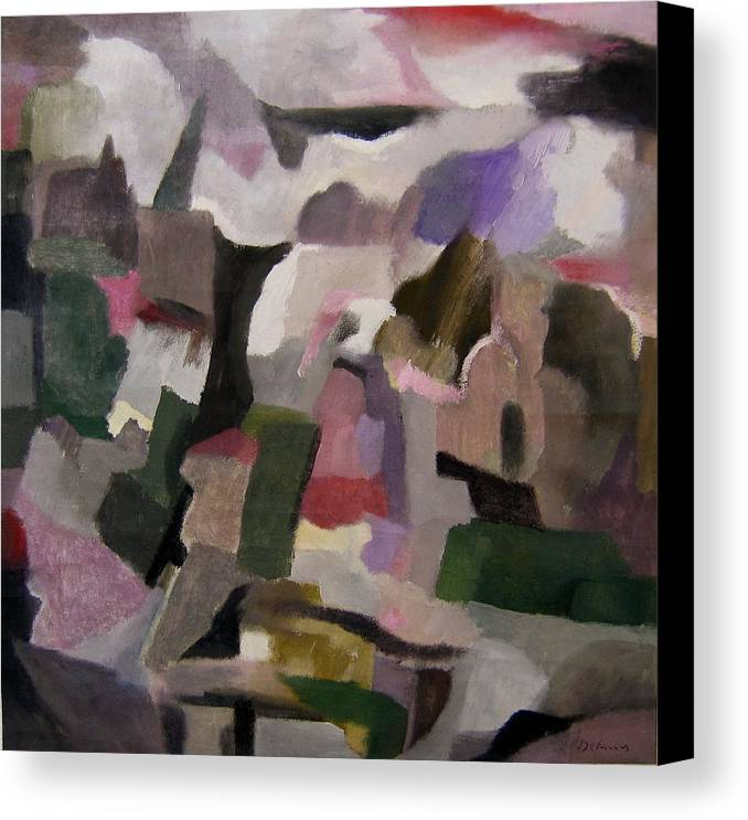 The Thoughts Of Cezanne Canvas Print featuring the painting The Thoughts Of Cezanne by Adolfo De Turris