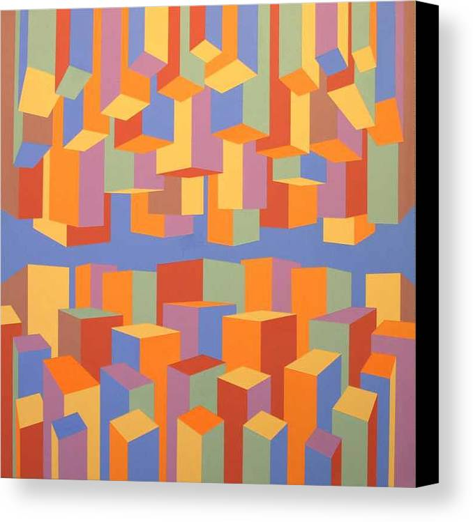 Abstract Canvas Print featuring the painting The Upside Of Down by Marston A Jaquis