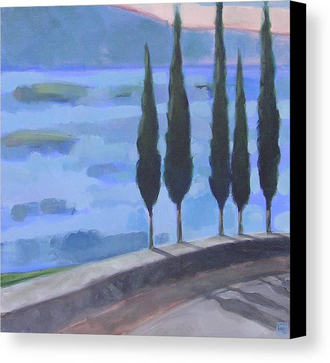 Landscpe Canvas Print featuring the painting Watch by Mary Brooking