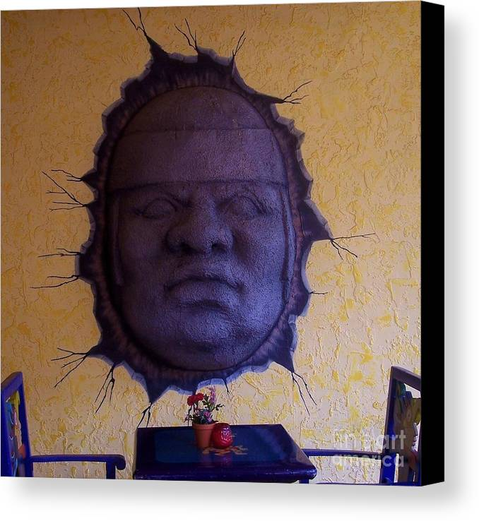 Face Canvas Print featuring the photograph Watch What You Eat by Debbi Granruth