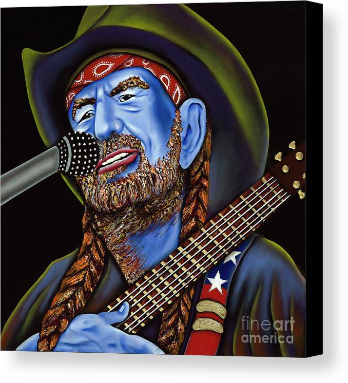 Portrait Canvas Print featuring the painting Willie by Nannette Harris