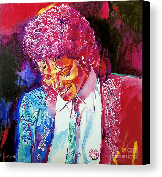 Michael Jackson Canvas Print featuring the painting Young Michael Jackson by David Lloyd Glover