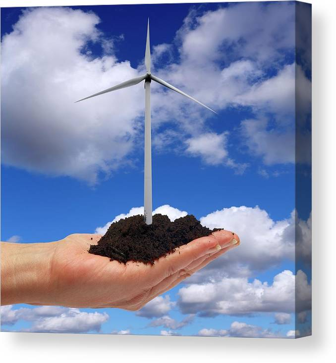 People Canvas Print featuring the photograph Alternative Energy Sources by Victor De Schwanberg