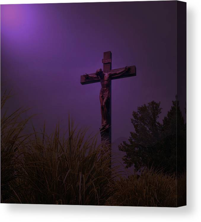 Forgive Them Canvas Print featuring the photograph Forgive Them by Lawrence Costales