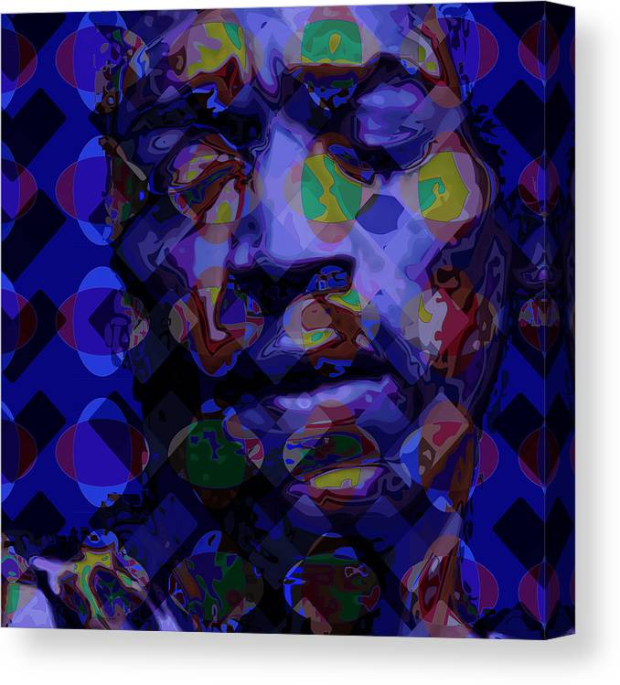 Portrait Canvas Print featuring the digital art Jimi Hendricks by Scott Davis