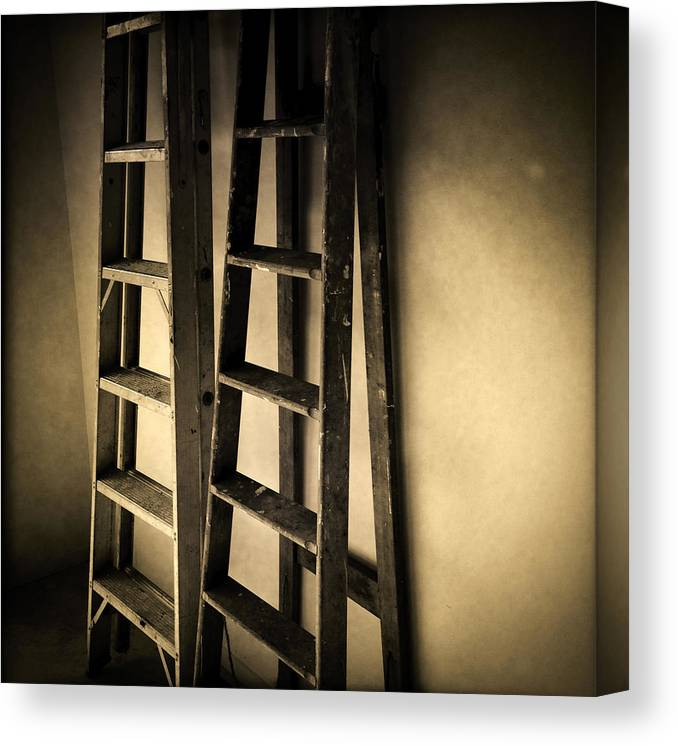 Diy Canvas Print featuring the photograph Ladders by Les Cunliffe