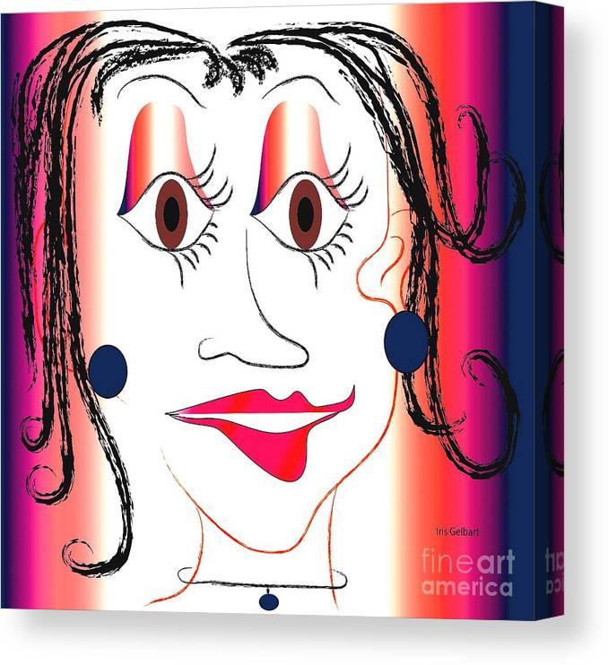 Drawing Canvas Print featuring the digital art Moonbeam by Iris Gelbart