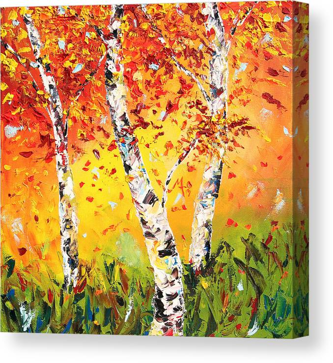 Autumn Canvas Print featuring the painting The Change by Meaghan Troup