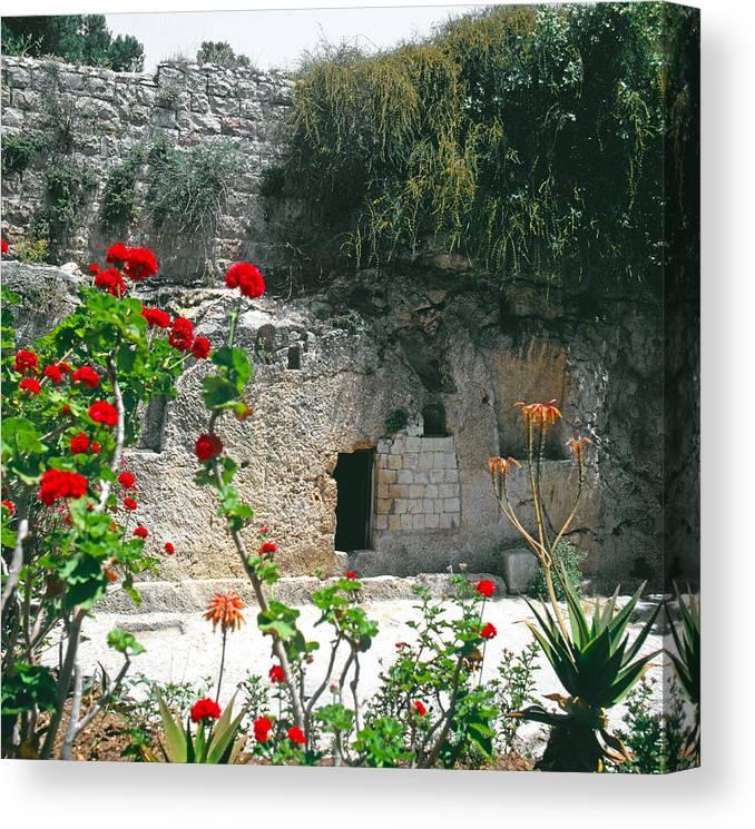 Garden Tomb Canvas Print featuring the photograph The Garden Tomb. East Jerusalem. by Daniel Blatt