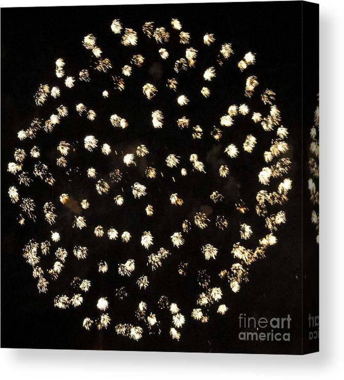 Opsail Canvas Print featuring the photograph Fireworks Number 3 by Meandering Photography
