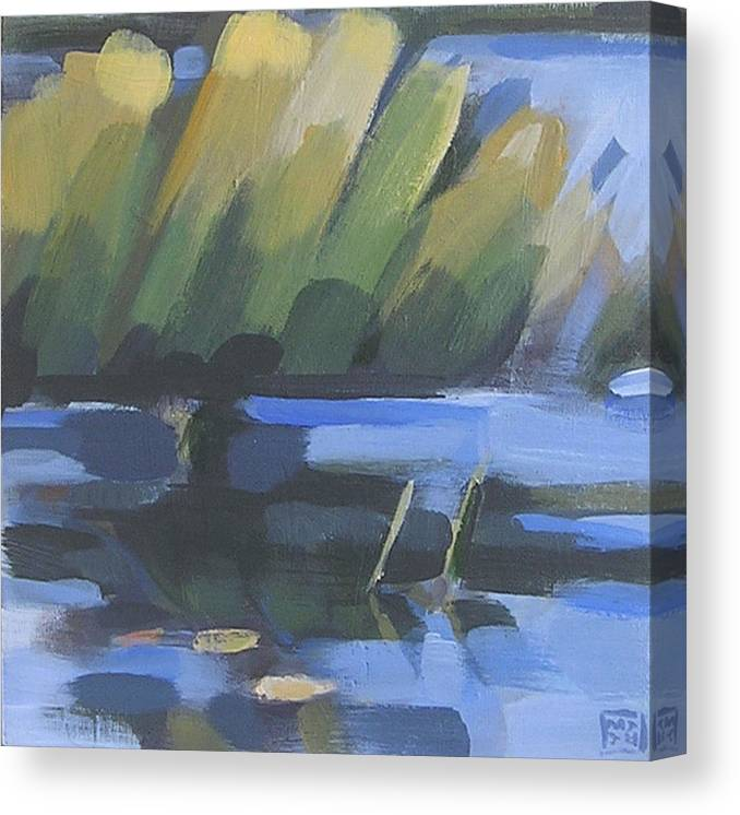 Water Canvas Print featuring the painting Fran's Cove by Mary Brooking