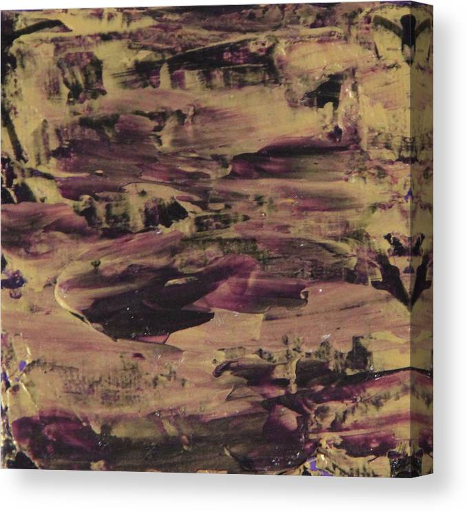 Purple Canvas Print featuring the painting John1.5 by Tracy Fetter