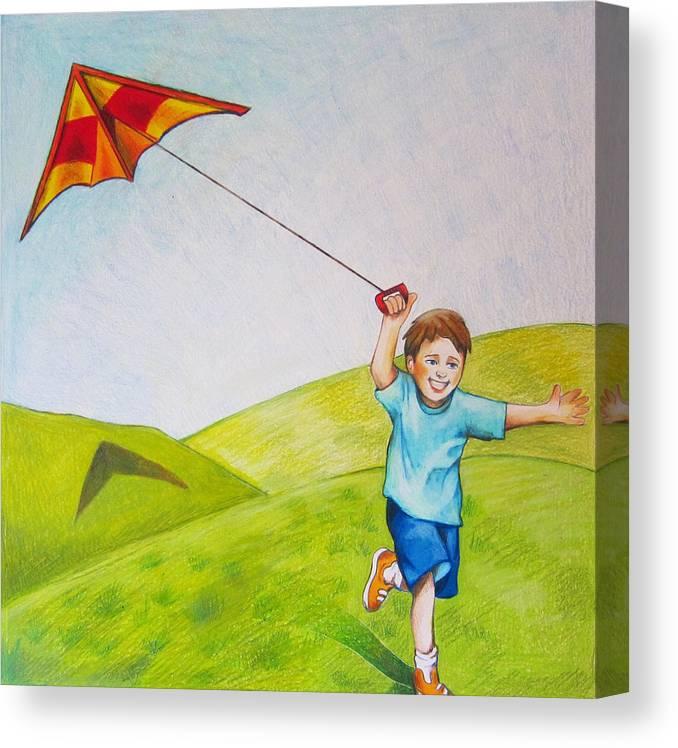 Art Kite Flying Drawing